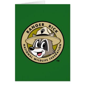 Cartão Logotipo do rick da guarda florestal do rick | da