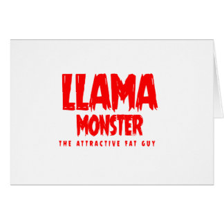 Cartão Logotipo do vermelho do monstro do lama