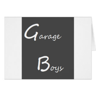 Cartão Logotipo dos meninos da garagem