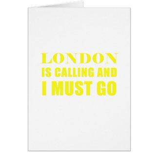 Cartão Londres está chamando e eu devo ir