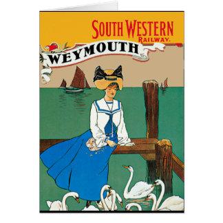 Cartão Londres Weymouth Railway ocidental sul