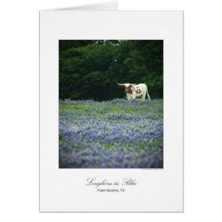 Cartão Longhorn no azul