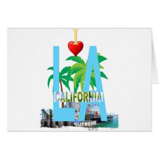 Cartão Los Angeles l uma cidade EUA América de Califórnia