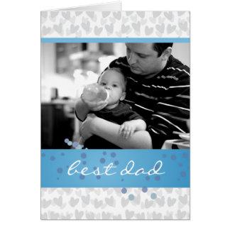 Cartão lote dos corações para o melhor pai nunca
