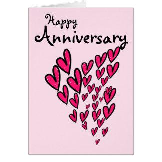 Cartão Lotes felizes do aniversário de corações