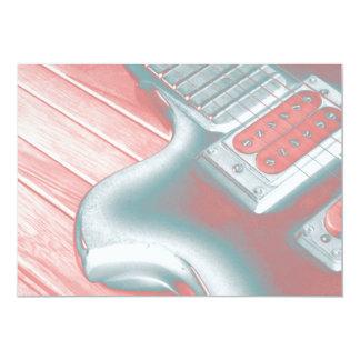 Cartão louco do considerando da guitarra convite 12.7 x 17.78cm