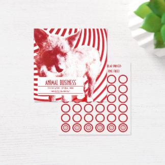 cartão louco do selo dos filhotes de cachorro do