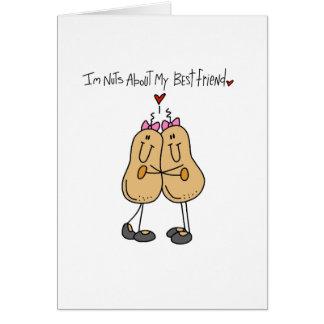 Cartão Loucos sobre o melhor amigo