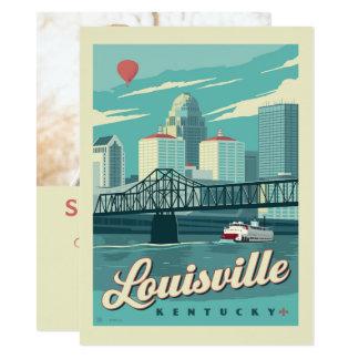 Cartão Louisville, economias de Kenucky   a data - foto