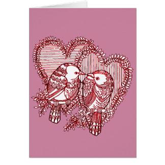 Cartão Lovebirds