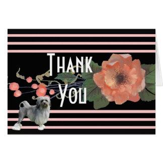 Cartão Lowchen no obrigado floral do melão você