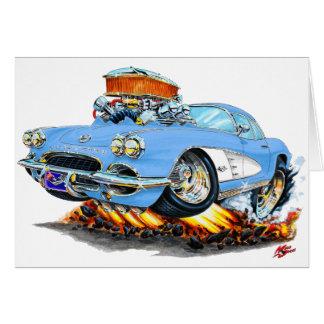 Cartão Lt 1961 de Corveta Azul Carro