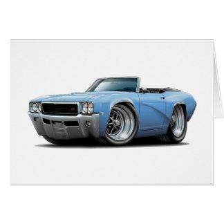 Cartão Lt 1968 de Buick GS Azul Convertível