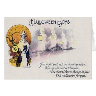 Cartão Lua cheia da lanterna do gato preto do Ceifador