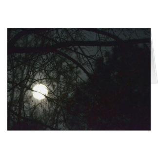 Cartão Lua cheia do equinócio de primavera