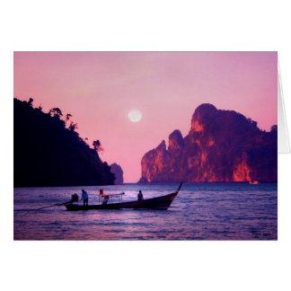 Cartão Lua cheia - mar de Tailândia