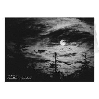 Cartão Lua cheia no acampamento de Verão francês dos