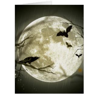 Cartão Lua cheia o Dia das Bruxas