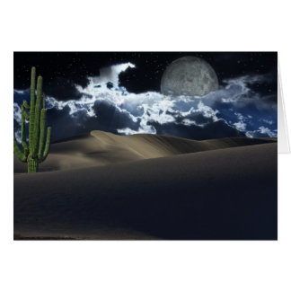 Cartão Lua do deserto
