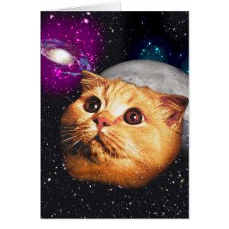 Cartão lua do gato, gato e lua, catmoon, gato da lua