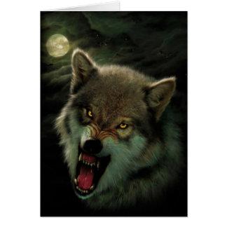 Cartão Lua do lobo