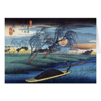 Cartão Lua do outono em Seba, Hiroshige