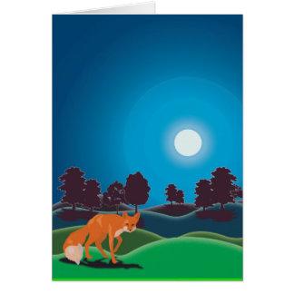 Cartão Lua dos caçadores