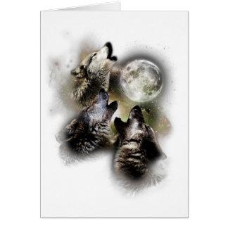 Cartão Lua dos lobos do urro