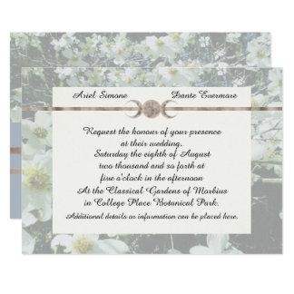 Cartão Lua sonhadora Handfasting triplicar-se do Dogwood