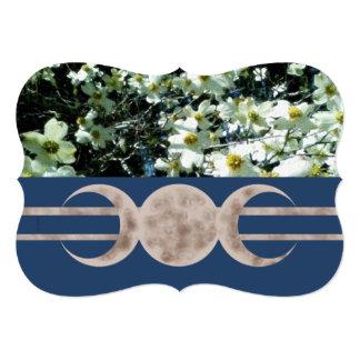 Cartão Lua vibrante Handfasting triplicar-se do Dogwood