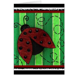 Cartão Lucy o joaninha - o cartão/partido convida