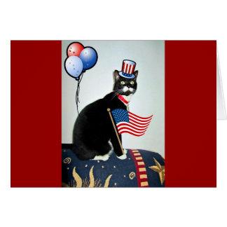Cartão Lucy patriótica