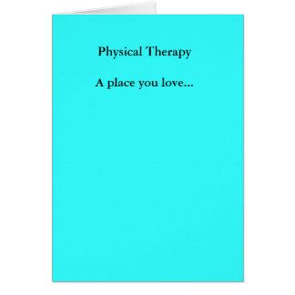 Cartão Lugar que físico de TherapyA você ama…
