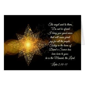 Cartão Luke 2 10-11 um salvador foi nascido, Natal
