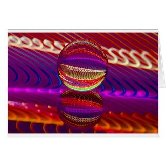 Cartão Luminosidade na bola de cristal
