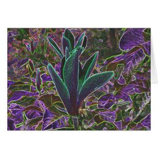 Cartão luminoso dos rododendros