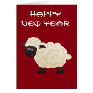 Cartão lunar do ano novo dos carneiros