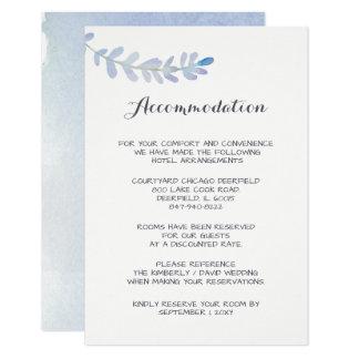 Cartão lunático da acomodação do casamento da