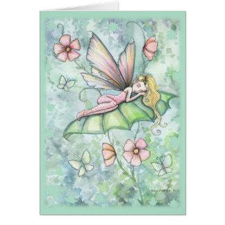 Cartão lunático da fada da flor