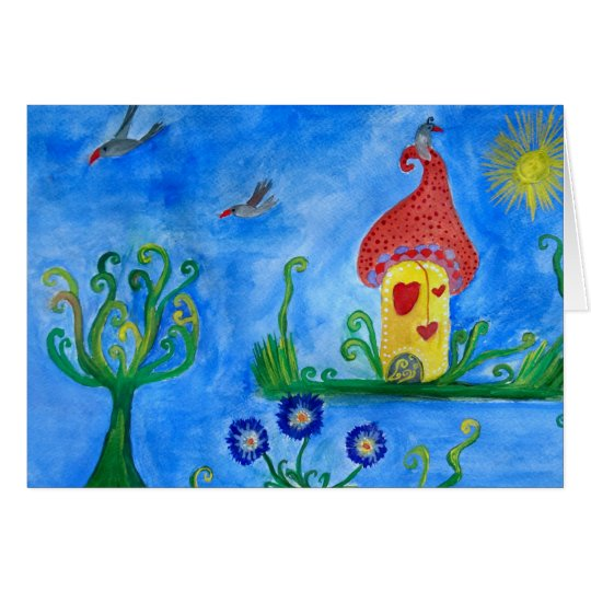 Cartão lunático da ilustração da criança