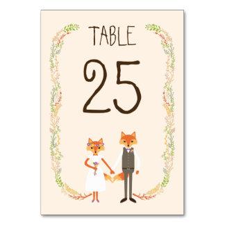 Cartão lunático da mesa do casamento do marfim das cartão