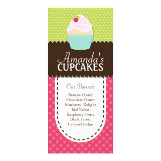 Cartão lunático e do divertimento do cupcake da