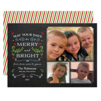 Cartão Cartão lunático rústico do feriado 3-Photo do