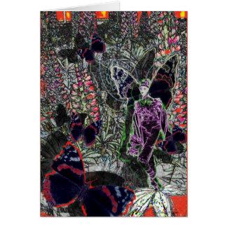 Cartão lupine-duende