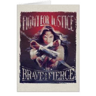 Cartão Luta da mulher maravilha para justiça