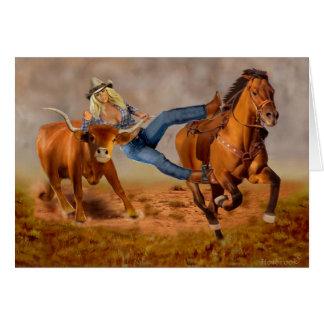 Cartão Luta do boi da vaqueira