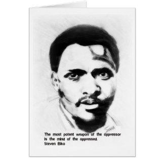 Cartão Lutador da liberdade de Steven Biko