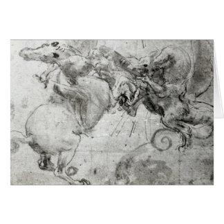 Cartão Lute entre um cavaleiro e um dragão, c.1482