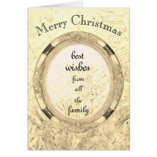 Cartão Luxo de todo o Natal da família