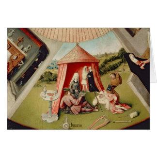 Cartão Luxo, detalhe da mesa dos sete